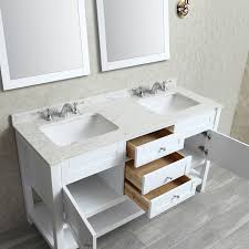 60 Bathroom Vanity Double Sink White by Ariel By Seacliff Mayfield 60