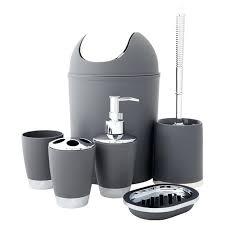 plush gray bathroom accessories gray bathroom accessories set