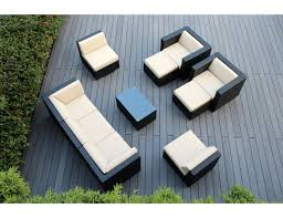 amazon com ohana 10 piece outdoor wicker patio furniture