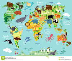 Wold Map World Map Stock Vector Image 55961299