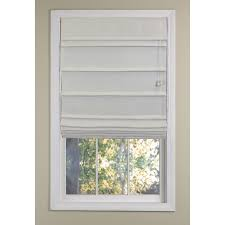 Allen And Roth Blinds Decorating Pull Down Blackout Roman Shades In White For Home
