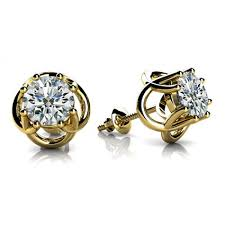 earring stud set shape solitaire diamond earring studs in 8 prong set