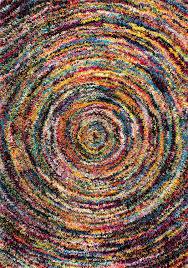 amazon com soft u0026 plush swirl geometric multi shag area rugs 4