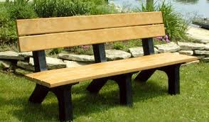 Park Benches Rock Island Outdoor Park Bench Recycled Plastic Belson Outdoors