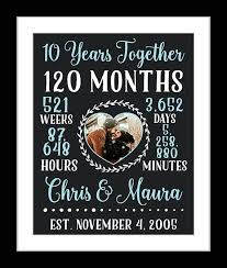 10 year anniversary present the 25 best 10 year anniversary gift ideas on 10th