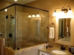 Vanity Makeup Lights Bathroom Superb Black Bathtub Patterned Tile Flooring Circular