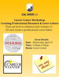cover letter career services career center workshop creating professional resumes u0026 cover