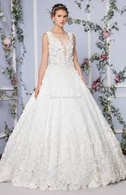 3d floral applique embroidery princess wedding dresses 2017 tony