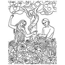 25 freeprintable adam eve coloring pages