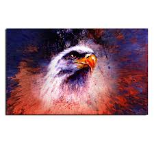 50x75cm owl modern art painting abstract print picture kit wall