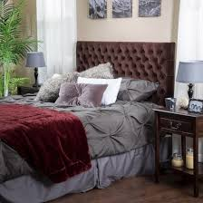 bolton button tufted headboard queen full chocolate christopher