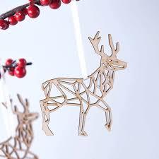 decorations geometric reindeer decoration
