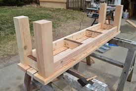Simple Park Bench Plans Kruses Work Simple Indooroutdoor Rustic Bench Plan Pictures On