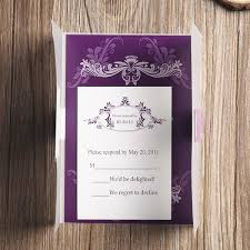 affordable pocket wedding invitations affordable vintage purple vellum paper pocket wedding invitations