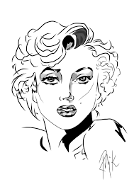 marilyn monroe coloring pages 19900