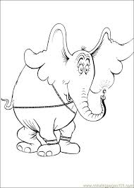horton elephant coloring free printable coloring