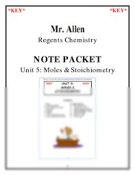 notes unit 5 moles u0026 stoich 2012 key pdf chemistry with n a