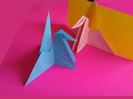 origami crane place card holder оригами журавлик