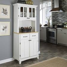 natural kitchen design shop home styles white natural kitchen hutch at lowes com