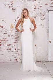 halter neck wedding dresses 48 trendy halter neckline wedding dresses happywedd
