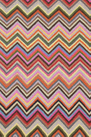Zig Zag Runner Rug Zigzag Multi Micro Hooked Rug The Outlet