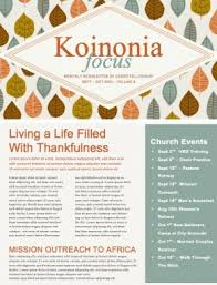 a song of thanksgiving christian newsletter template newsletter