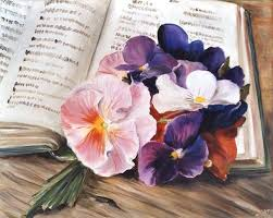 Kuhns Flowers - flowers on the table ingeborg kuhn as art print or hand painted oil