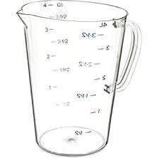32 cups to gallons rubbermaid commercial products fg321000clr 1 cup