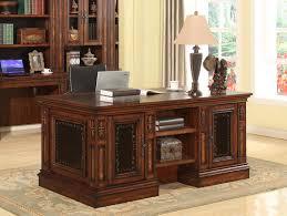 Double Pedestal Desk With Hutch by Parker House Leonardo Double Pedestal Executive Desk Ph Leo 480 3