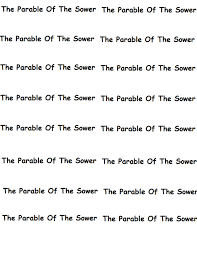 the parable of the sower craft marigold fun