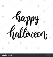 happy halloween vector brush lettering happy halloween calligraphy script stock vector