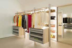 extremely versatile walk in closet the dresswall modular closet