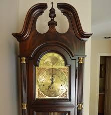Howard Miller Clock Value Queen Anne Style Mahogany Grandfather Clock By Howard Miller Clock
