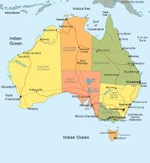 map of aus political map of australia with capitals major tourist