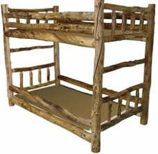 Twin Over Twin Log Bunk Bed My Boys Would Love This Bedbunk - Log bunk beds