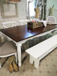 Redo Kitchen Table by This Is So Easy To Achieve With An Old Farmhouse Table Just Paint