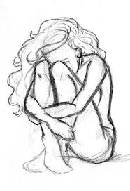 cool alone sketch alone girls sketch simple sketch of sad and