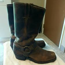 moto boots sale frye shoes sale fry moto harness boots brown excellent cond poshmark