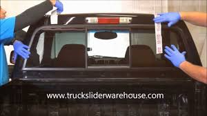 truck rear window guard how to install a sliding rear window youtube
