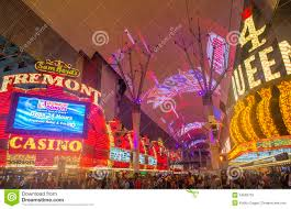 Las Vegas Fremont Street Map by Las Vegas Fremont Street Experience Editorial Photography