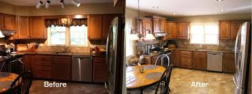 before and after kitchen cabinets stained kitchen cabinets before and after modern house
