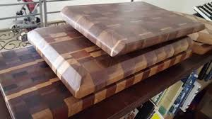 making a walnut end grain cutting board youtube