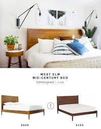 Living Spaces Bedroom Sets West Elm Mid Century Bed Copycatchic