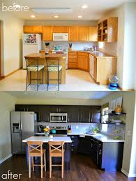 Kitchen Cabinets Refinished Cabinet Refinishing 101 Latex Paint Vs Stain Vs Rust Oleum