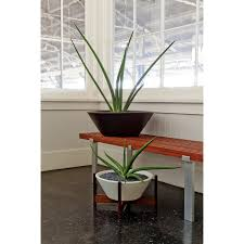 case study wok planter with wood stand small horne