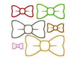 bow tie applique etsy