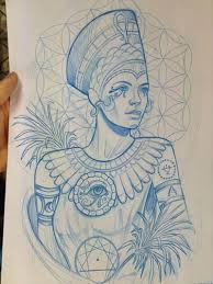 queen nefertari tattoo queen tattoo drawing clipartxtras