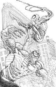 carnage coloring pages spiderman vs venom by illustr8now on deviantart