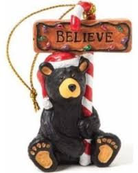bargains on demdaco bearfoots believe ornament