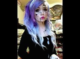 easy diy halloween costumes creepy doll makeup tutorial youtube broken doll makeup tutorial youtube